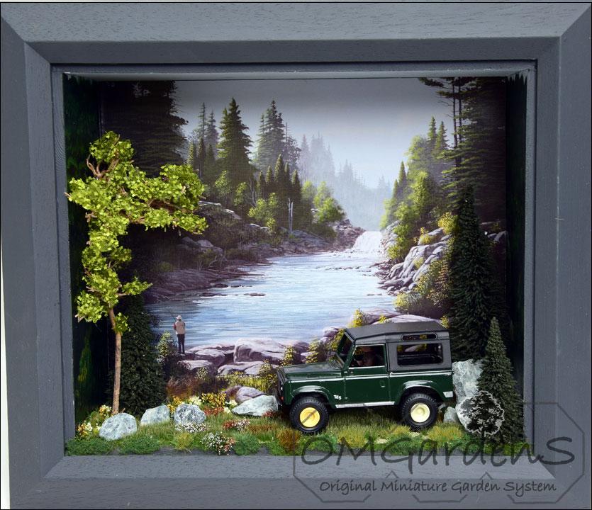 3-D schilderij voor modelauto