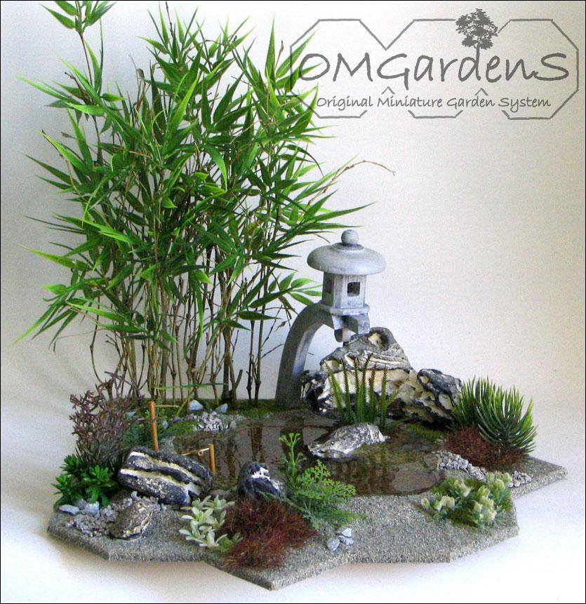bamboe met vijver